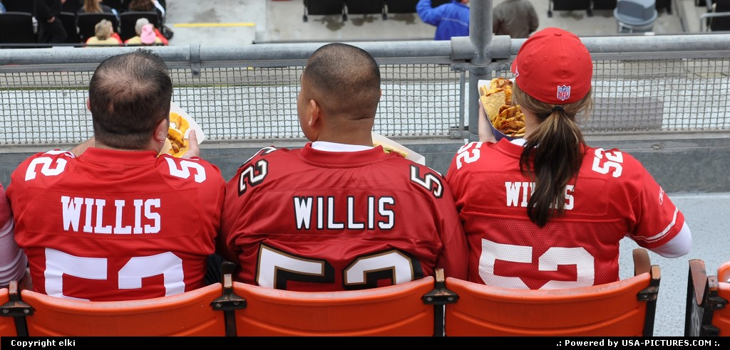 Picture by elki: San Francisco California   49 ers, willis, fans