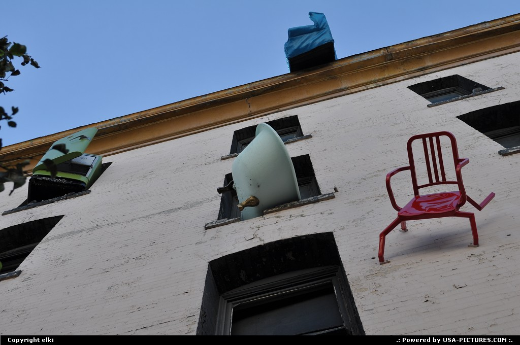 Picture by elki: San Francisco California   falling furniture, san francisco
