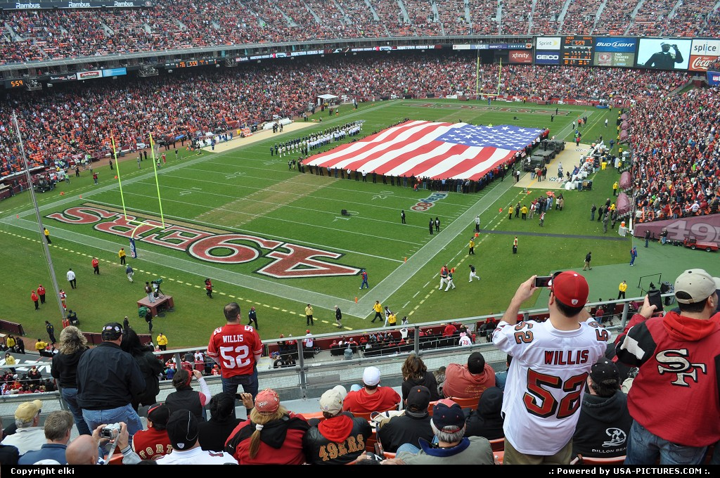 Picture by elki: San Francisco California   49 ers fans
