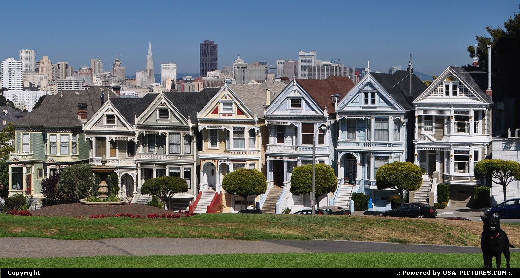 Picture by WestCoastSpirit:San FranciscoCaliforniaSFO, transamerica, painted ladies, SF