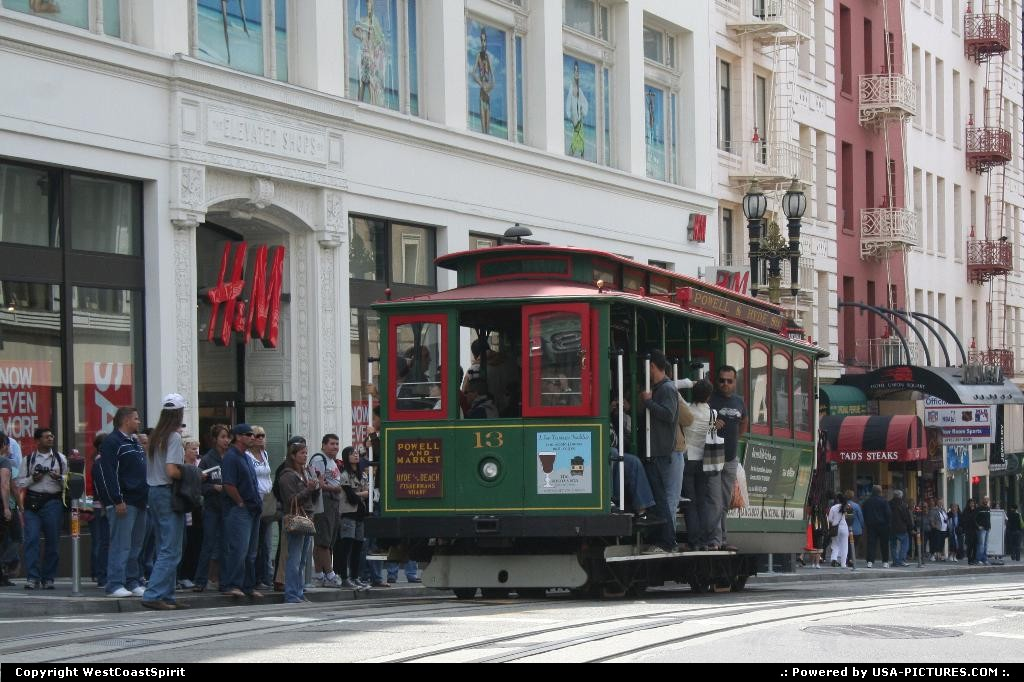 Picture by WestCoastSpirit: San Francisco California   cable car, street car, powell, SF
