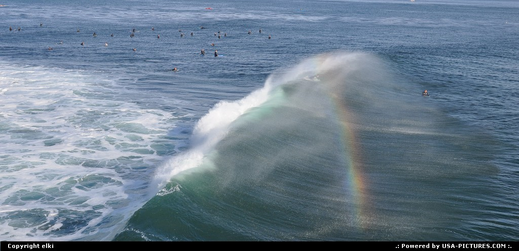 Picture by elki: Santa Cruz California   surf, santa cruz