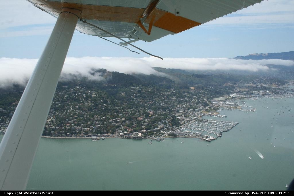 Picture by WestCoastSpirit:SausalitoCaliforniaplane, sea plane, SF, houseboat
