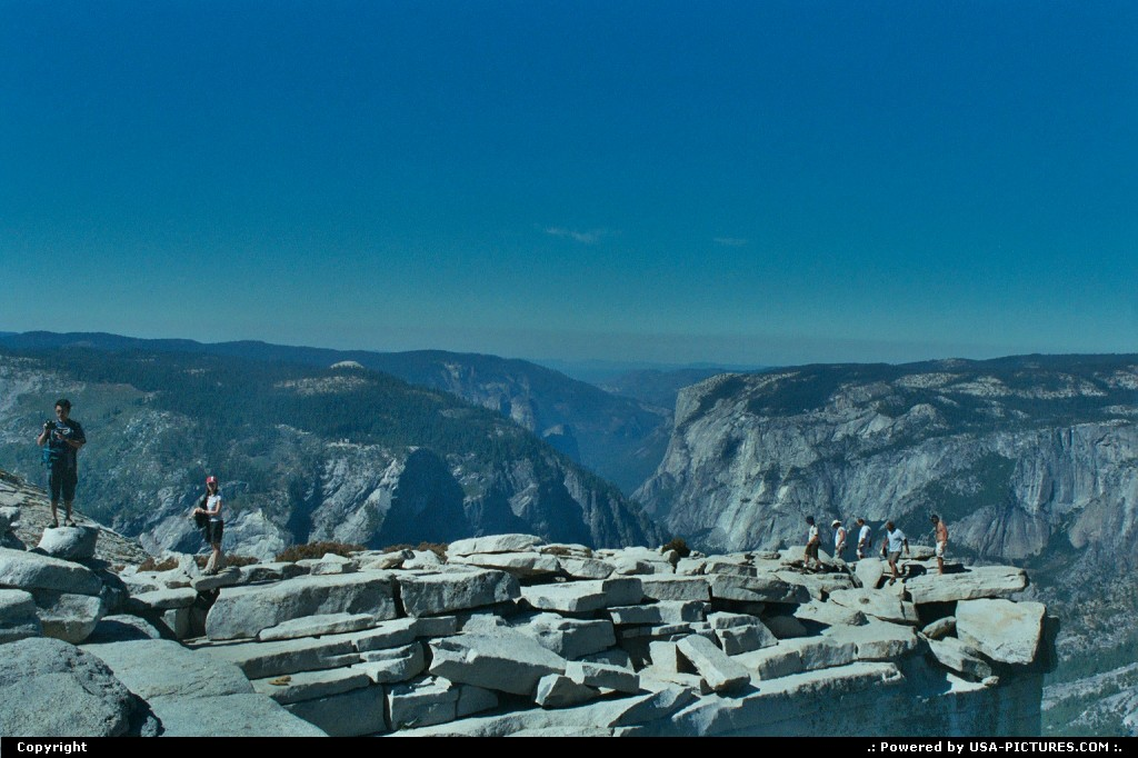 Picture by WestCoastSpirit:  California Yosemite Half Dome nps, yosemite, half dome, extreme hike, trail