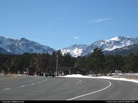 South entrance into Rocky Mountain National Park.