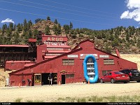 , Idaho Springs, CO, Idaho, where the gold rush began as they say... Minutes before our rafting ride.