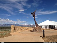 Mesa Verde, , CO, in front of the brand new visitor center, at the park entrance. The building has been build green, even if this is not obvious on that picture. Official inauguration will be held be the Governor Himself, in just a few days.