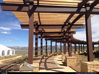 Mesa Verde, , CO, Details of the brand new visitor center, right at the entrance of the park.