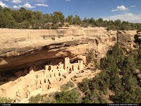 Mesa Verde, , CO, The massive Cliff Palace dwelling. More than 150 rooms have been identify, and that makes the Palace the largest dwelling in the world!