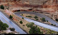 Winding road, Colorado National Monument.