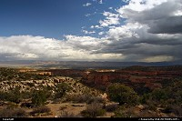 Colorado, Bad weather approaching Colorado National Monument.