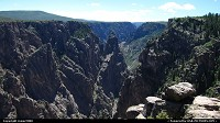 Colorado, Views of the Rim of the Black Canyon of the Gunnison.