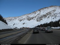 Eisenhower Tunnel westbound on I-70.