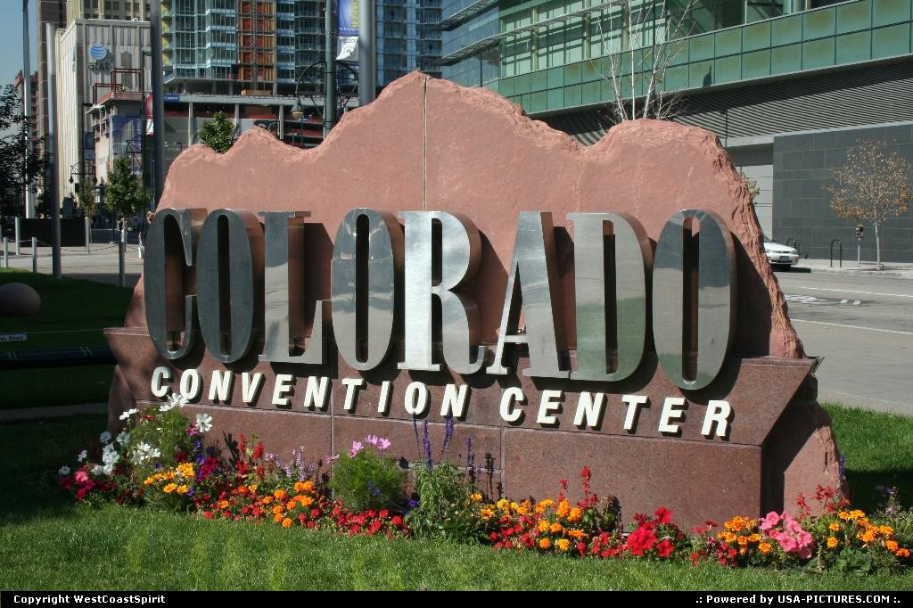 Picture by WestCoastSpirit:DenverColoradosign, rock, convention, flowers
