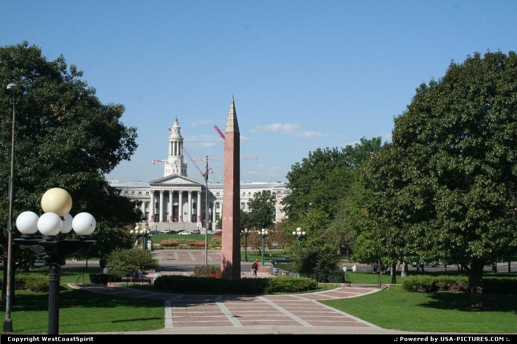 Picture by WestCoastSpirit: Denver Colorado   mall, civic center, capitol, skyline, park