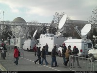 Media coverage was obviously extensive, with a lot of TV trucks around.