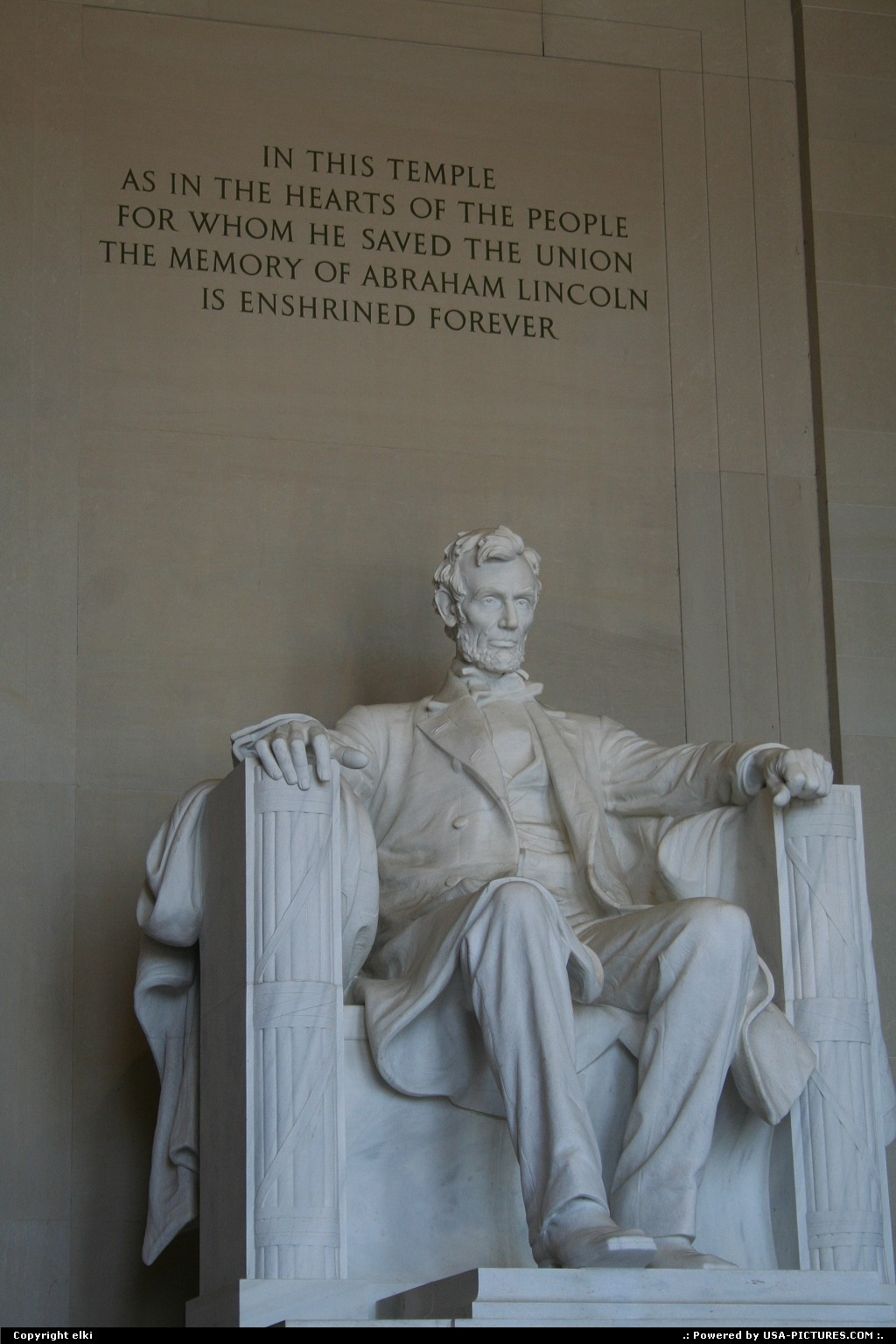 Picture by elki:WashingtonDct-columbiaLincoln memorial