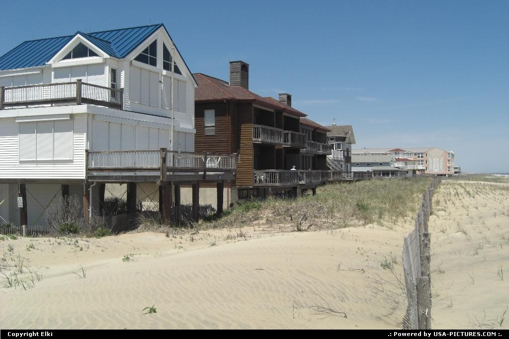 Picture by elki: Rehoboth Beach Delaware   house, beach, sand