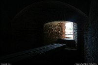 Inside the fort, a cell