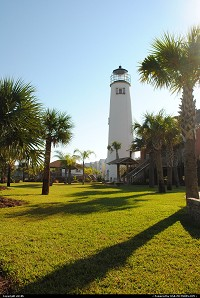 Photo by eh10h | Apalachicola  light house, beach, palm tree