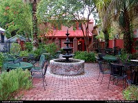 Outdoor patio in Downtown Fernandina Beach