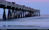 Jacksonville Beach Pier at sunset