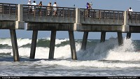 Photo by MnMCarta | Jacksonville Beach  hurricane,earl,water,wave,pier,action,storm,current,pilings,jacksonville,florida