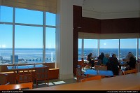 Skyline Dining & Conference Center - 42nd floor Bank of America Tower. An inexpensive cafeteria open for lunch Mon-Fri and Happy hour on Wed & Fri Great Views!