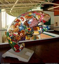 Florida, Manatee art at Jacksonville Landing