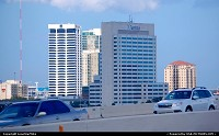 Photo by LoneStarMike | Jacksonville  downtown, skyscraper, skyline, waterfront, bridge,
