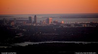 Jacksonville, FL Skyline at sunset on approach to JAX - Jacksonville International Airport.