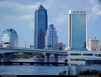 Jacksonville skyline from Interstate 10