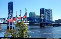 Photo by LoneStarMike | Jacksonville  skyline, bridge, waterfront,
