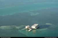 Key Biscayne : Off shore house in Biscayne Bay, between Miami and Key Biscayne. Seen here from the helicopter. Nice!