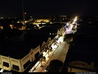 Key West : Duval street at night from the top of La Concha Hotel