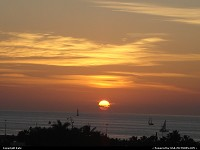 Florida, Sunset on the Gulf of Mexico, viewed from the top of La Concha Hotel.