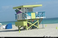 Photo by elki | Miami Beach  Miami beach life guard