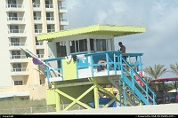 Photo by elki | Miami Beach  Miami Beach lifeguard