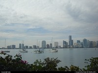 Miami skyline as you can contemplate from the Rusty Pelican, a fine restaurant on Rickenbacker Causeway