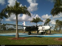 , Miami, FL, B-26 INVADER IN BAY OF PIGS CUBAN WAR MARKINGS PRESERVED AT TAMIAMI AIRPORT