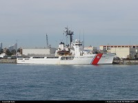 Coast Guard ship in the port of Miami