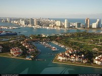 Ultra select Fisher Island in Miami, with only 218 households or so. Highest per capita income in the United States in 2000. Only reachable by helicopter or boat. Nice place to live, isn't it?