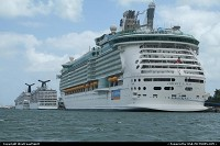 Florida, Liberty of the Seas, a Royal Carribbean cruise ship docked in Miami. There was nothing less than 4 ships of that kind today docked in the bay. Miami is definitively a hotspot as far as cruises are concerned.