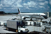 Orlando : A Delta Air Lines' Boeing 757-200 sitting at gate between two missions. The livery has changed twice since ...