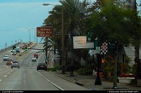 Shops along the Granada Bridge in Ormond Beach, FL