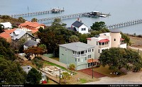 Photo by LoneStarMike | Saint Augustine  homes, boat, docks, aerial, lighthouse