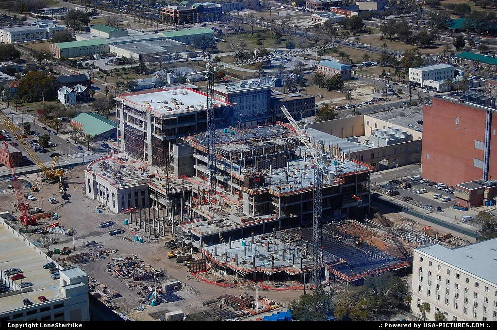Picture by LoneStarMike:JacksonvilleFloridaaerial, construction