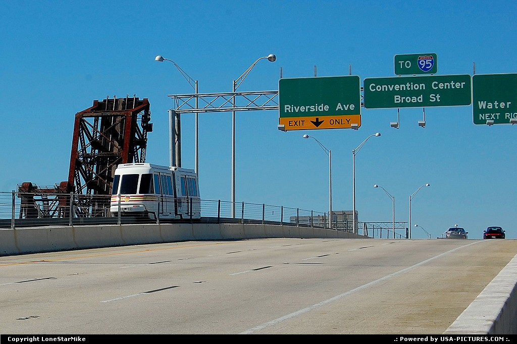 Picture by LoneStarMike: Jacksonville Florida   bridge, highway, train