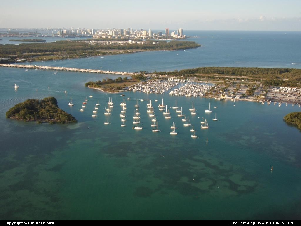 Picture by WestCoastSpirit: Key Biscayne Florida   marina, boat, sea, beach