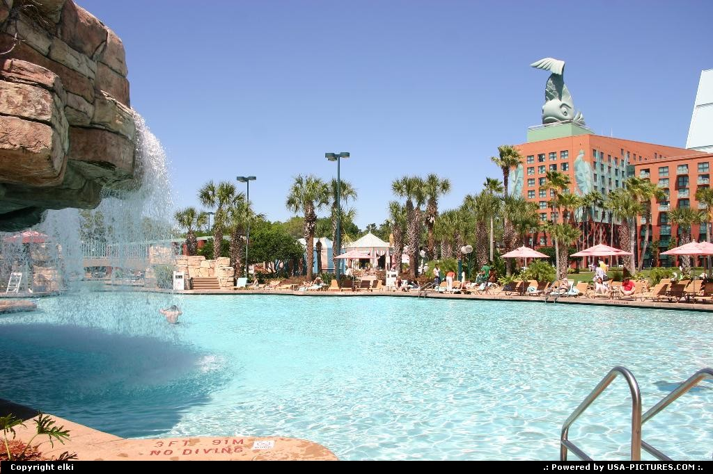 Picture by elki: Lake Buena Vista Florida   pool, resort, disney, epcot